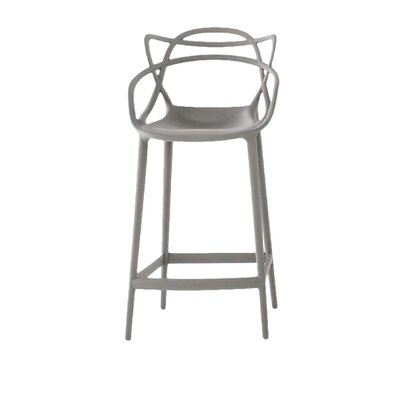 Wondrous Kartell Master Counter Stool Color Grey Seat Height Bar Inzonedesignstudio Interior Chair Design Inzonedesignstudiocom
