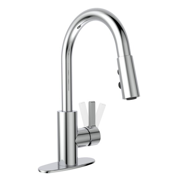 Pull Down Bar Faucet with Swivel Spout and Hand Spray by Keeney Manufacturing Company