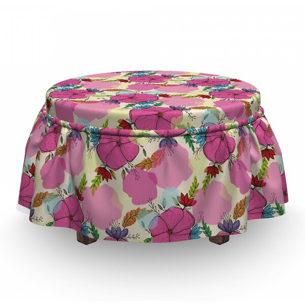 Leaves Splashes Ottoman Slipcover (Set Of 2) By East Urban Home