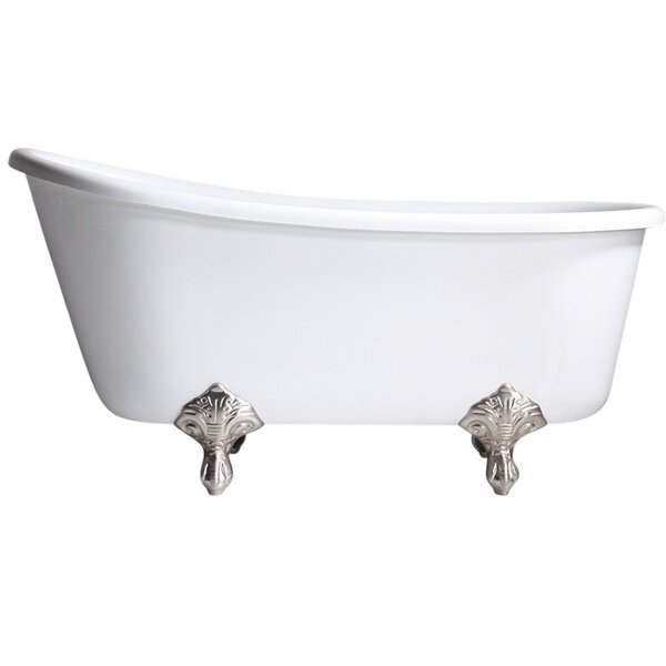 Hotel Acrylic Swedish 62 x 31 Freestanding Soaking Bathtub by Baths of Distinction