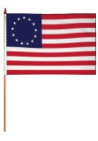 Betsy Ross Traditional Flag and Flagpole Set (Set of 12) by Flags Importer
