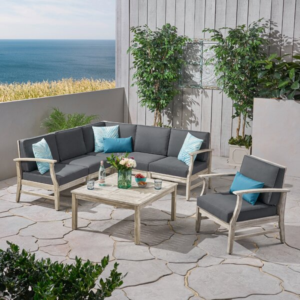 Gianni 7 Piece Sectional Seating Group with Cushions by Foundry Select