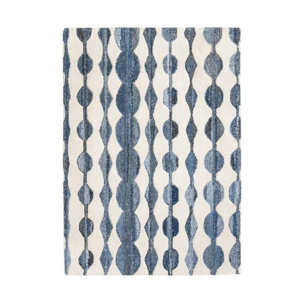 Eckman Hand-Tufted Blue/Ivory Area Rug by Brayden Studio