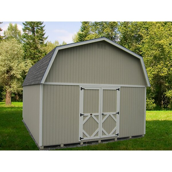 Classic Gambrel Wooden Storage Shed by Little Cottage Company