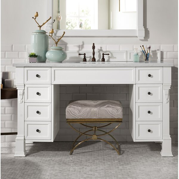 Bedrock 60 Single Cottage White Bathroom Vanity Set by Darby Home Co