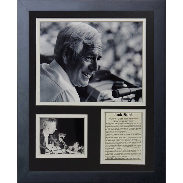 Jack Buck Framed Photographic Print by Legends Never Die
