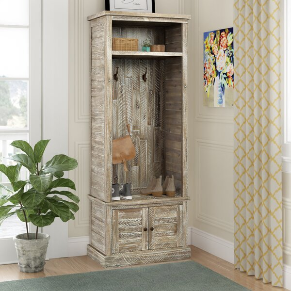 Seadrift Craft Acacia Solid Wood Hall Tree With Bench And Shoe Storage By Three Posts