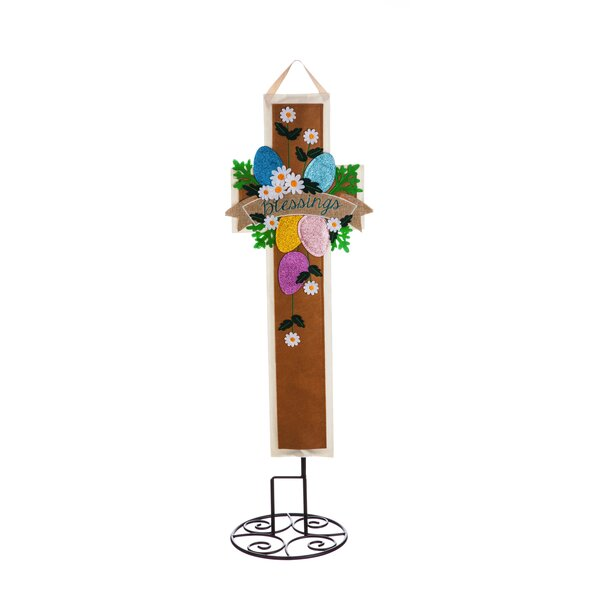 Easter Cross Garden Stake by The Holiday Aisle