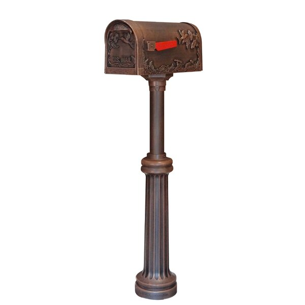 Hummingbird Curbside Mailbox with Post Included by Special Lite Products