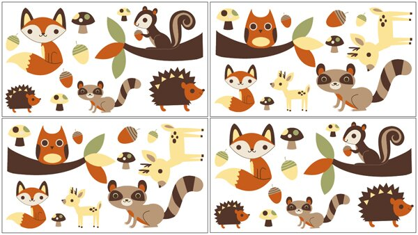 Forest Friends Wall Decal by Sweet Jojo Designs