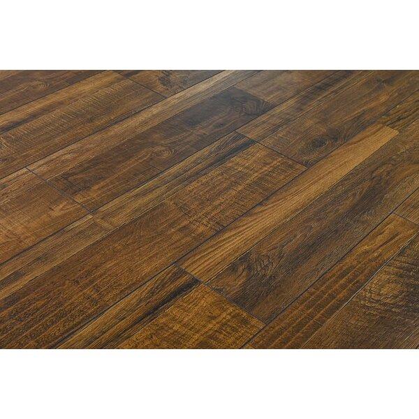 Steve 7.6 x 48 x 12mm Oak Laminate Flooring in Rustic Java Ruby by Serradon