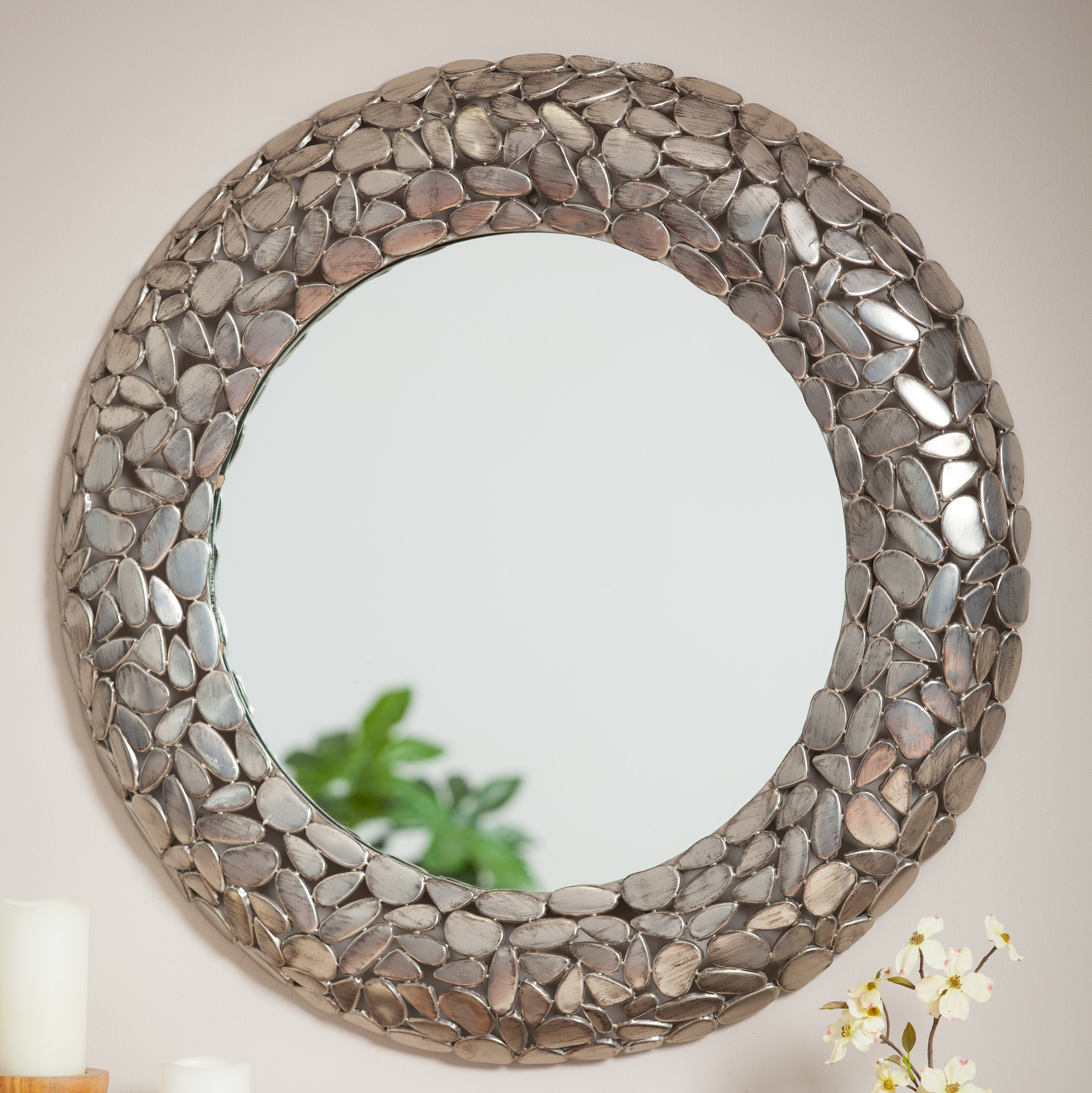 World Menagerie Tackett Iron Glass Accent Mirror Wayfair