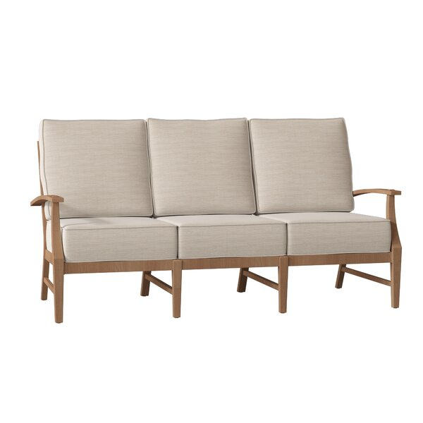 Croquet Teak Patio Sofa with Cushions by Summer Classics