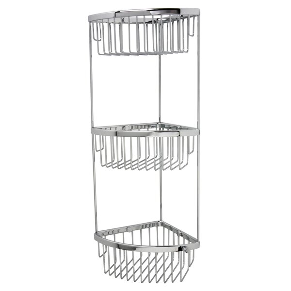 Classic 3 Tier Corner Shower Caddy by Valsan