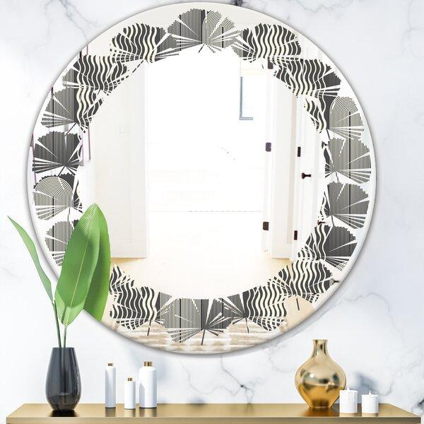 Leaves Mimimal Design II Modern Frameless Wall Mirror