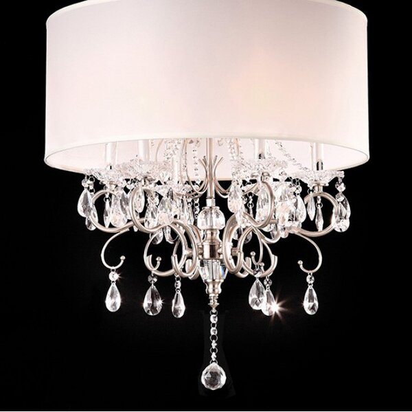 Bourget 6 - Light Candle Style Drum Chandelier With Crystal Accents By Rosdorf Park