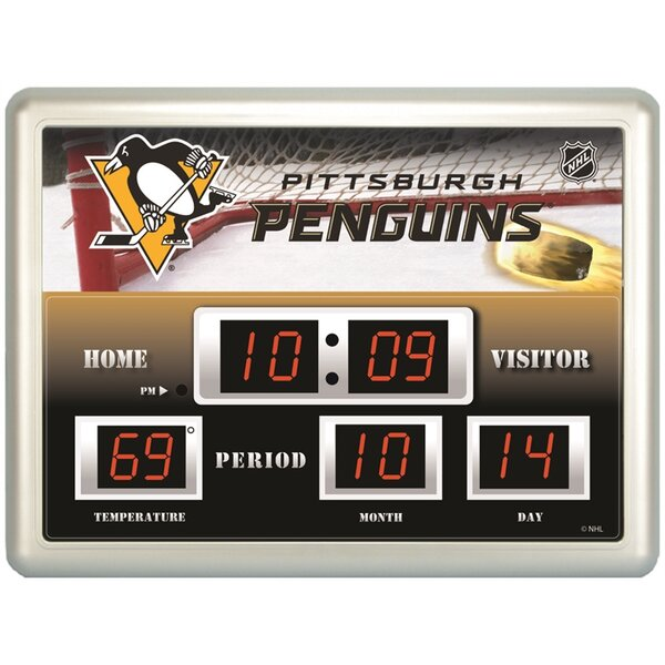 Pittsburgh Penguins Scoreboard Wall Clock by Evergreen Enterprises, Inc