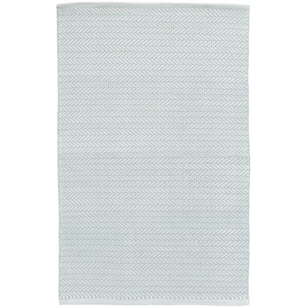 Herringbone Blue/White Indoor/Outdoor Area Rug by Dash and Albert Rugs