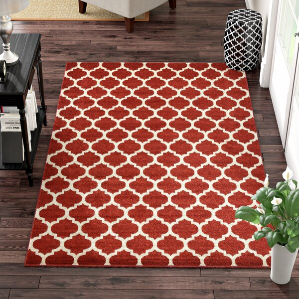 Moore Red Area Rug by Charlton Home