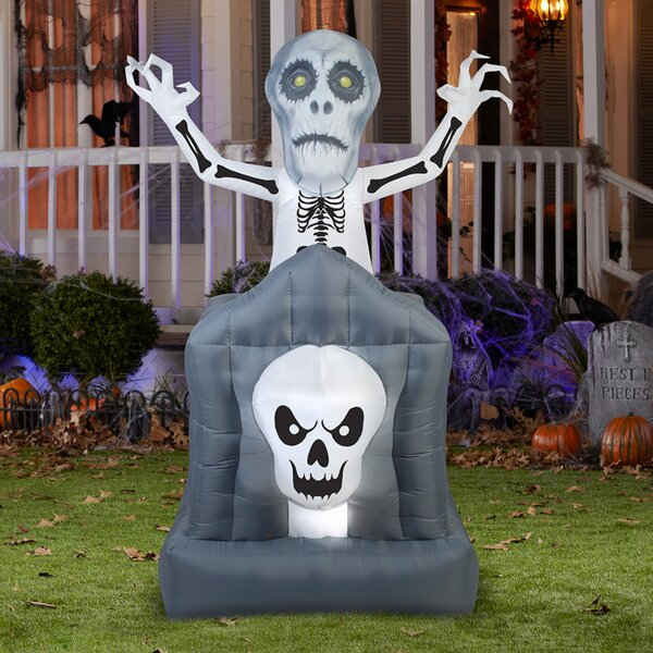 Pop-up Ghost in Haunted Tomb Inflatable by The Holiday Aisle