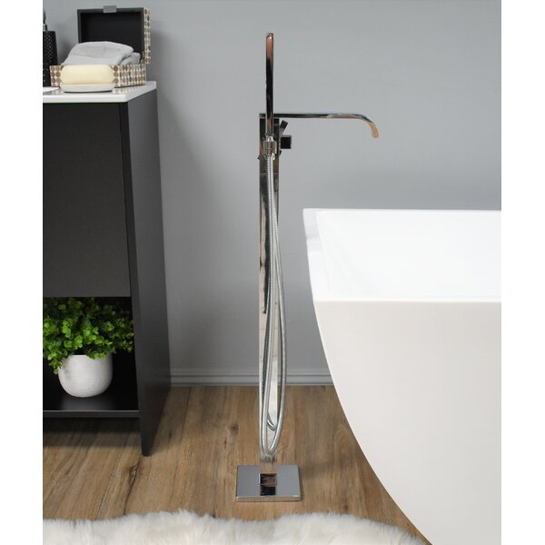 Eilat Single Handle Floor Mounted Clawfoot Tub Faucet With Diverter And Handshower By MTD Vanities