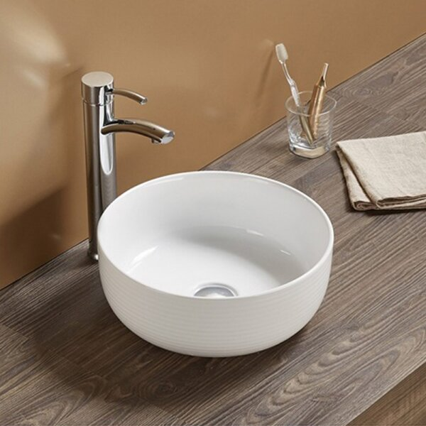 Ceramic Circular Vessel Batroom Sink