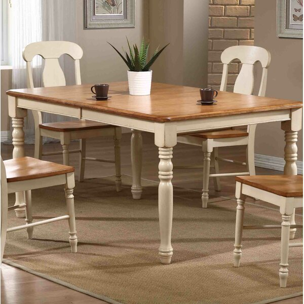 Finian Extendable Solid Wood Dining Table by August Grove August Grove