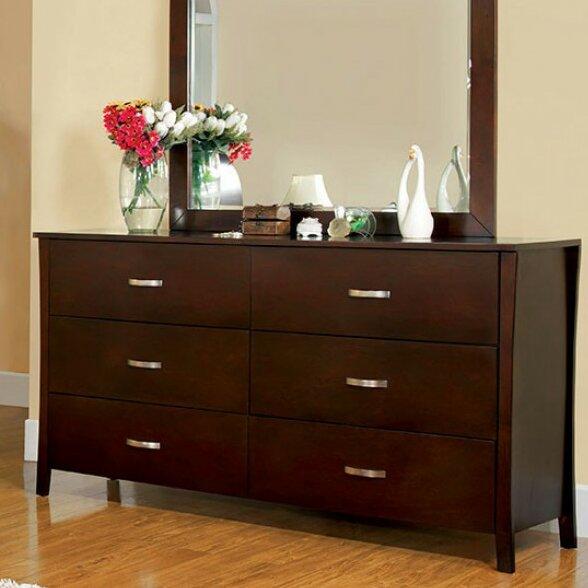 Sabbagh Durable 6 Drawer Double Dresser by Orren Ellis
