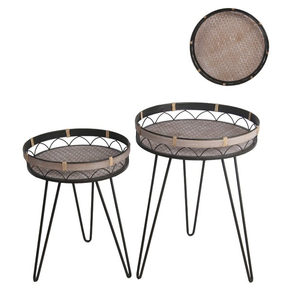 Ohlone Tray Top 3 Legs Nesting Table Set By Bayou Breeze