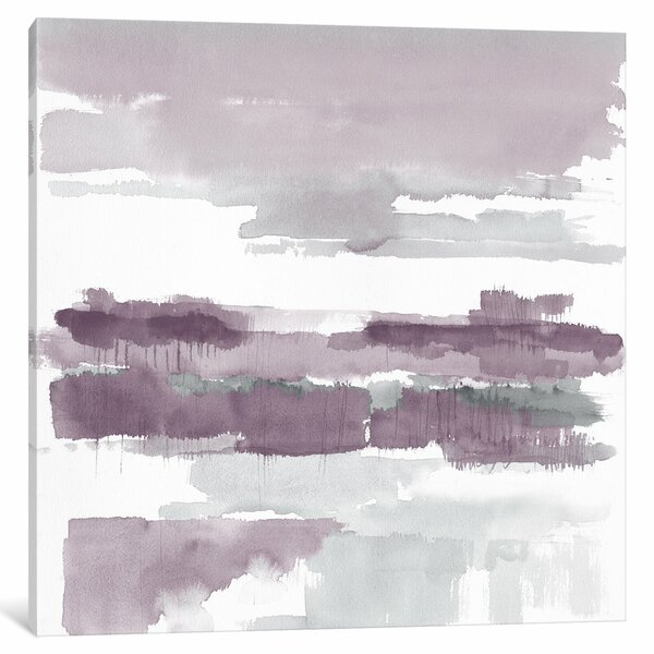 Amethyst Wetlands Painting Print on Wrapped Canvas by Mercury Row
