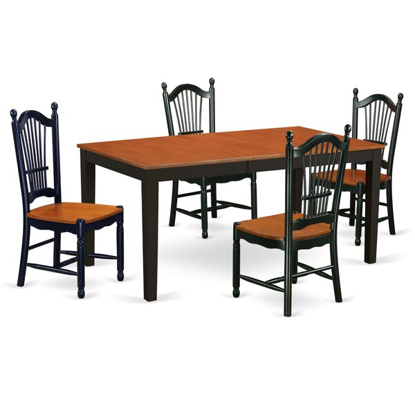 Cleobury Modern 5 Piece Dining Set by August Grove