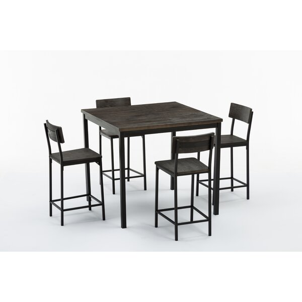 Bushman 5 Piece Counter Height Table Set by Williston Forge