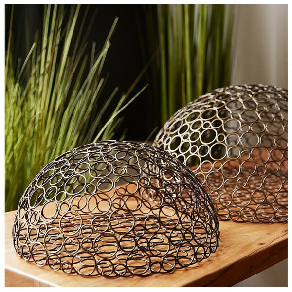 Half Circle Wire Ball Wall Décor by Gold Leaf Design Group