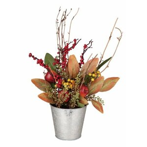 Harvest Apple and Berry Floral Arrangement in Pot
