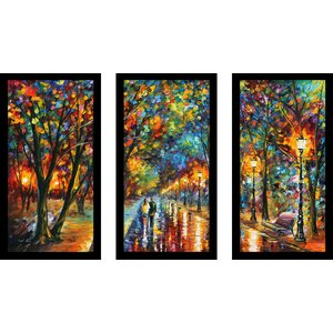 When The Dreams Came True by Leonid Afremov 3 Piece Framed Painting Print Set by Picture Perfect International