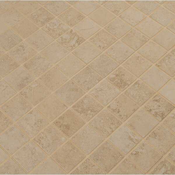Venice 2 x 2 Porcelain Mosaic Tile in Cappuccino by MSI