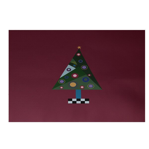 Crazy Christmas Decorative Holiday Print Cranberry