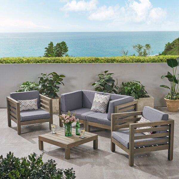 Kristin 5 Piece Sofa Seating Group with Cushions by Corrigan Studio