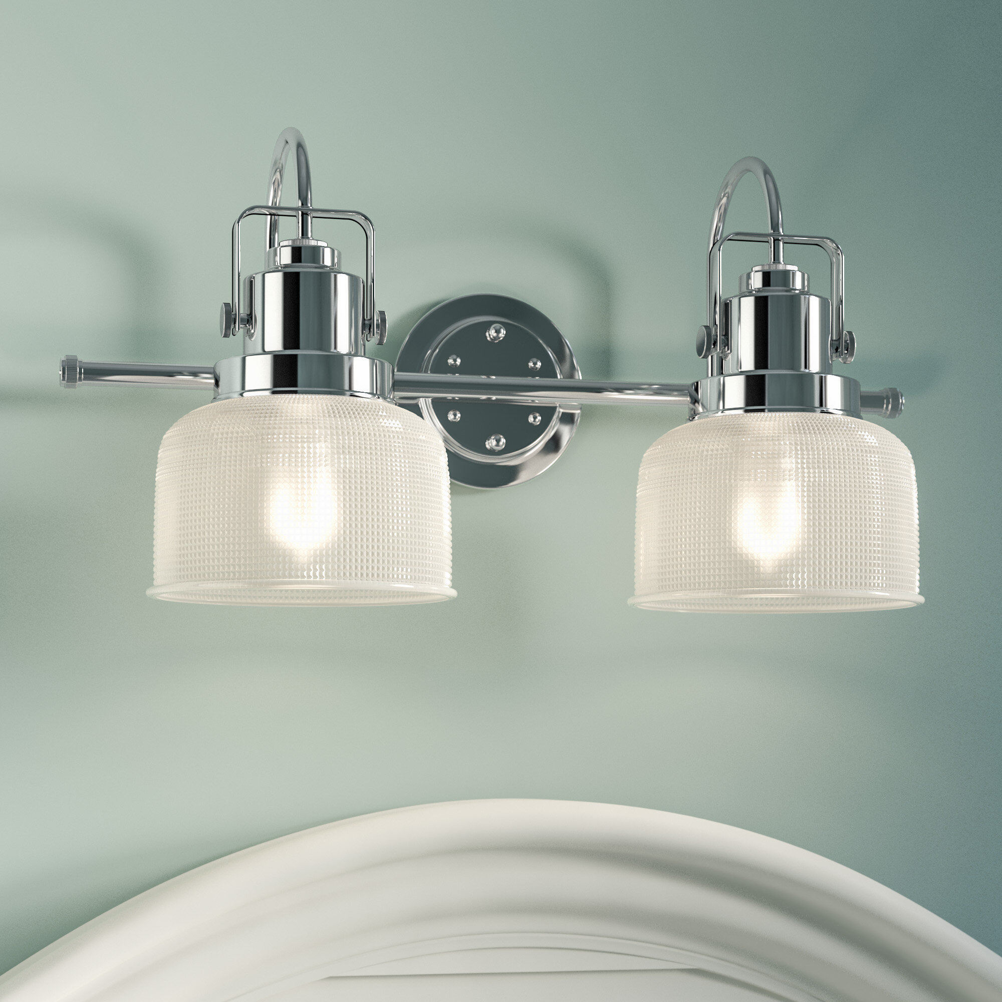 Beachcrest Home Gotha 2-Light Vanity Light & Reviews   Wayfair