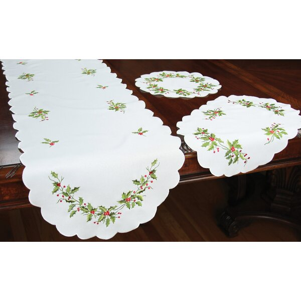 Mistletoe Embroidered Placemat (Set of 4) by Xia Home Fashions