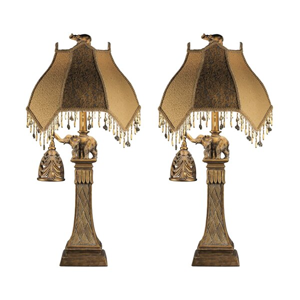 Moses 31.25 Table Lamp (Set of 2) by World Menagerie