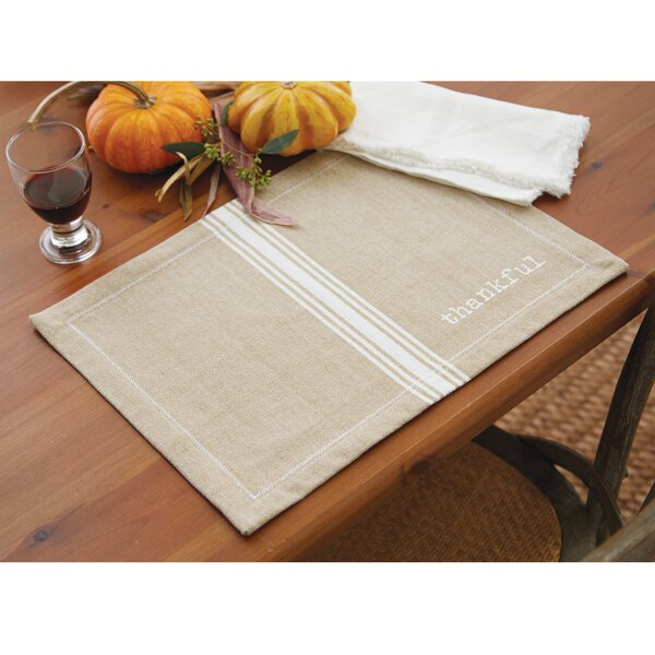 Grainsack Thankful Placemat (Set of 6) by Mud Pie™