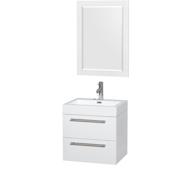 Amare 23 Single Bathroom Vanity Set with Mirror by Wyndham Collection
