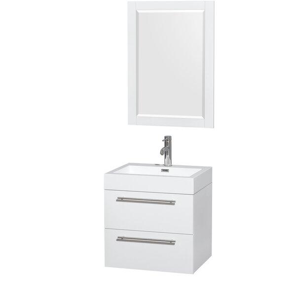 Amare 23 Single Bathroom Vanity Set with Mirror by Wyndham CollectionAmare 23 Single Bathroom Vanity Set with Mirror by Wyndham Collection
