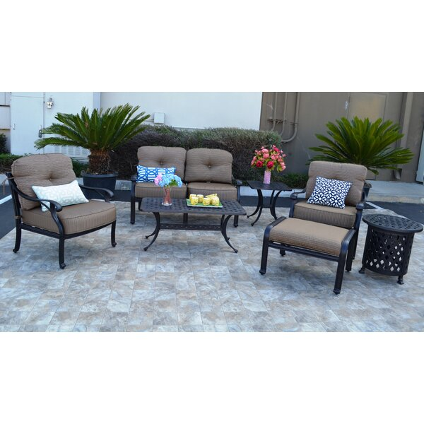 Nola 7 Piece Sunbrella Sofa Set with Cushions by Darby Home Co