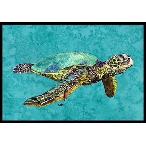 Swimming Logggerhead Turtle Doormat