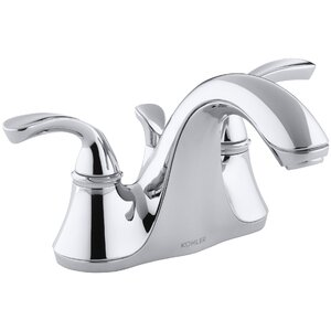 Forte Centerset Double Handle Bathroom Faucet with Drain Assembly