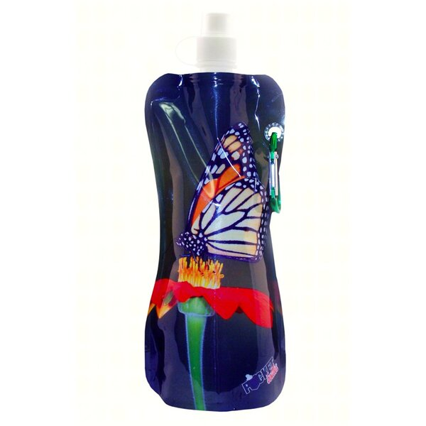 Carnglass More Butterfly 16 oz. Pocket Water Bottle by Winston Porter