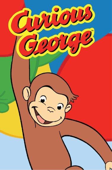 Curious George Happy George Kids Rug by Fun Rugs