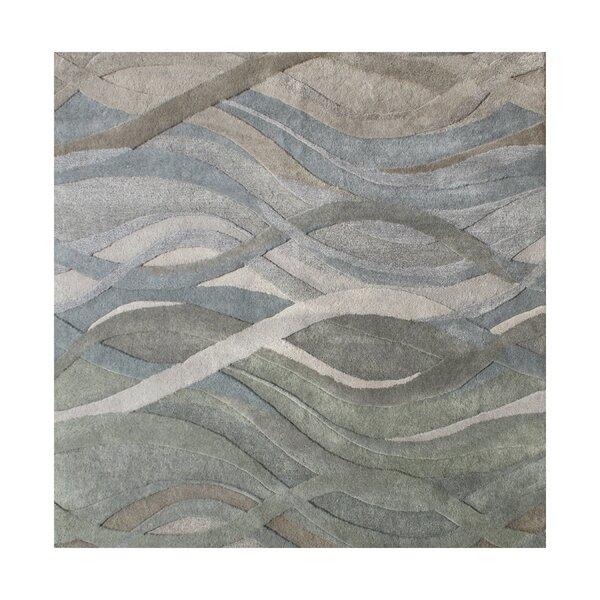 New Zealand Handmade Gray/Green Area Rug by Alliyah Rugs